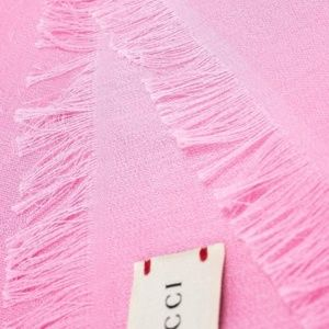 NWT Gucci Light Pink GG Cotton Scarf